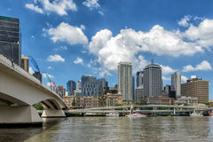 Brisbane City. The Pacific Highway in Brisbane running parallel to the city royalty free stock photo