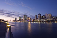 Brisbane City Queensland Australia. The Brisbane CBD is an area of densely concentrated skyscrapers and other buildings, interspersed by several parks such as Royalty Free Stock Images