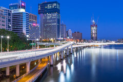 Brisbane City, Queensland, Australia. View from Southbank of Brisbane City, Queensland, Australia Stock Photos