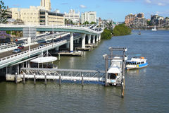 Brisbane City River Side Royalty Free Stock Photo