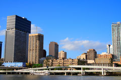 Brisbane City River Side Stock Photo