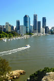 Brisbane City and river Stock Photos