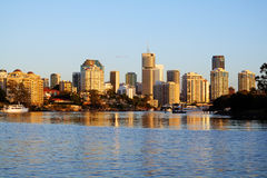 Brisbane City Skyline Australia Stock Photos
