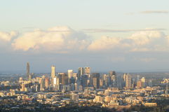 Brisbane city skyline in the evening before sun set Stock Photography