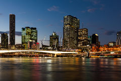 Brisbane city skyline Stock Image