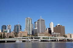 Brisbane City from South Bank Stock Image