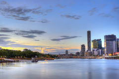 Brisbane City and South Bank Stock Image