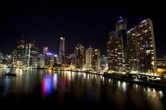 Brisbane City with still water stock photos