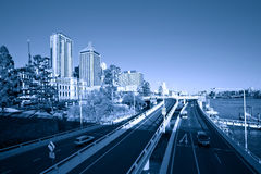 Brisbane city street. S a King Royalty Free Stock Photography