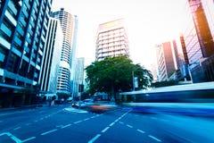 Brisbane city street. Brisbane, Australia city building close-up Royalty Free Stock Photos