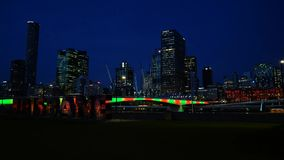 Brisbane City Time Lapse stock footage