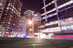 Brisbane city traffic at night. Australian Brisbane city at night Stock Photo