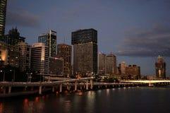 Brisbane city view stock image