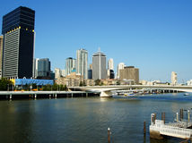 Brisbane city. View from the water. Queensland Australia Stock Image