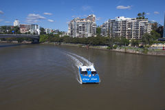 Brisbane CityCat on Brisbane River Stock Photo
