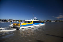 Brisbane CityCat on Brisbane River Stock Image