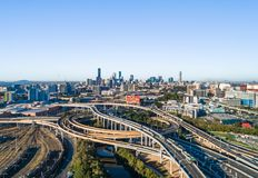 Brisbane cityscape aerial view of the CBD of the Queensland capital stock photos