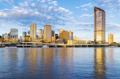 Brisbane cityscape at sunset Stock Image