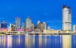 Brisbane cityscape at twilight Stock Images