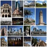 Brisbane collage Arkivfoto