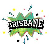 Brisbane Comic Text in Pop Art Style. Vector Illustration Stock Photo