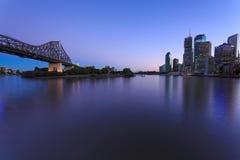 Brisbane an der Dämmerung Stockfotografie