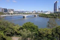 Brisbane die Hauptstadt Queensland-Staats-Australien-der Luftlandschaftsansicht lizenzfreies stockfoto