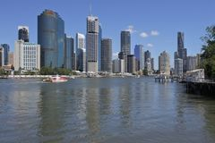Brisbane die Hauptstadt von Queensland-Staat Australien lizenzfreies stockfoto