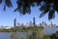 Brisbane die Hauptstadt von Queensland-Staat Australien stockbild