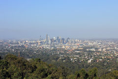 Brisbane from the distance Royalty Free Stock Photos