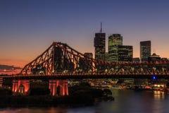 Brisbane e ponte da história Foto de Stock Royalty Free