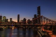 Brisbane e ponte da história Fotografia de Stock