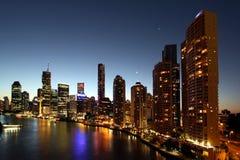 Brisbane em a noite Fotografia de Stock