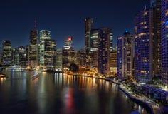 Brisbane en la noche Imágenes de archivo libres de regalías