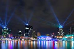 Brisbane entro Night Immagini Stock