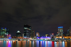 Brisbane entro Night Fotografia Stock