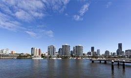 Brisbane förorter och floden Royaltyfri Fotografi