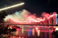 brisbane festiwalu riverfire Fotografia Royalty Free