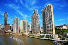 Brisbane flod och stad Royaltyfri Fotografi