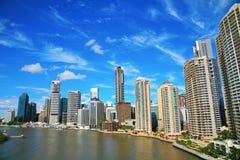 Brisbane flod och stad Royaltyfria Bilder