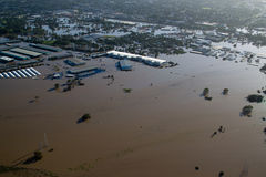 Brisbane Flood 2011 Aerial View Rocklea Markets & Royalty Free Stock Photos