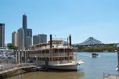 Brisbane-Fluss-Reiseflug Stockfotografie