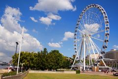 Ferris wheel in Brisbane  Stock Photo