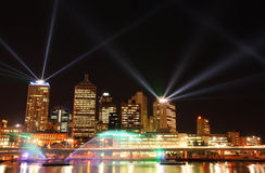 Brisbane Laser Show. A Laser Show in Brisbane taken from Southbank at the Brisbane Festival Stock Photo