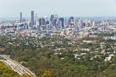 Brisbane Lookout Mt Coot-tha. Brisbane, the third largest city in Australia and the capital and most populous city in Queensland, a view from Mt Coot-tha Lookout Royalty Free Stock Photo