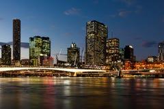 Brisbane miasta linia horyzontu obraz stock