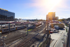 Brisbane miasta poręcz Zdjęcia Royalty Free