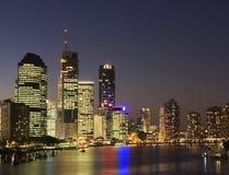 brisbane miasta w nocy Obrazy Stock