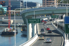 Brisbane motorway Royaltyfria Foton