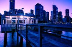 Brisbane-Nachmittagsrosa 1 stockfotografie